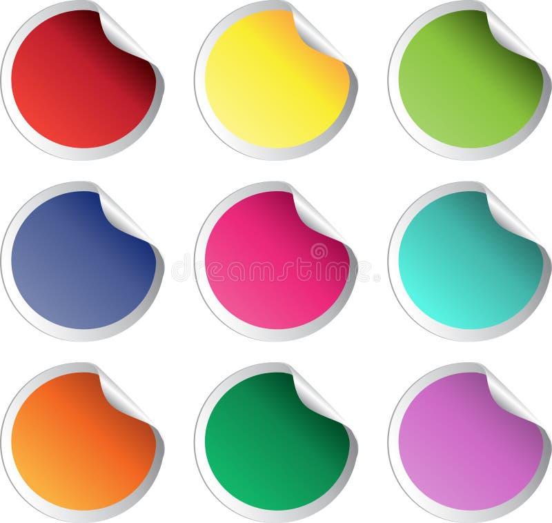 颜色光滑的反映贴纸向量 库存例证