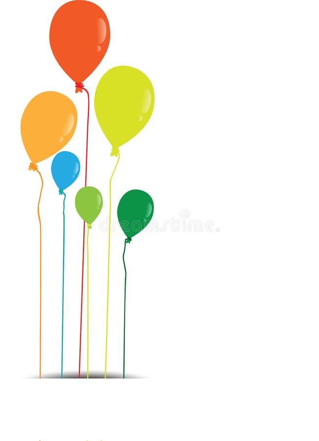 颜色光滑的气球 向量例证