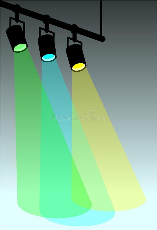 颜色冷却发光阶段 向量例证