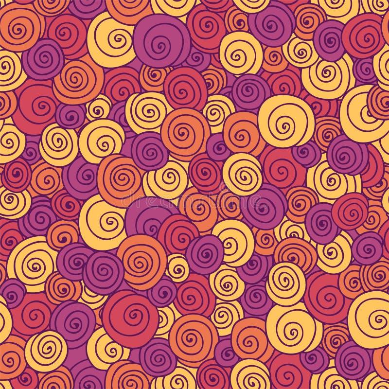 颜色卷曲无缝的模式。 免版税图库摄影
