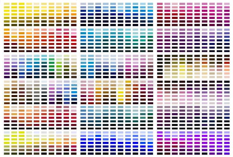 颜色参考样片调色板 免版税库存照片