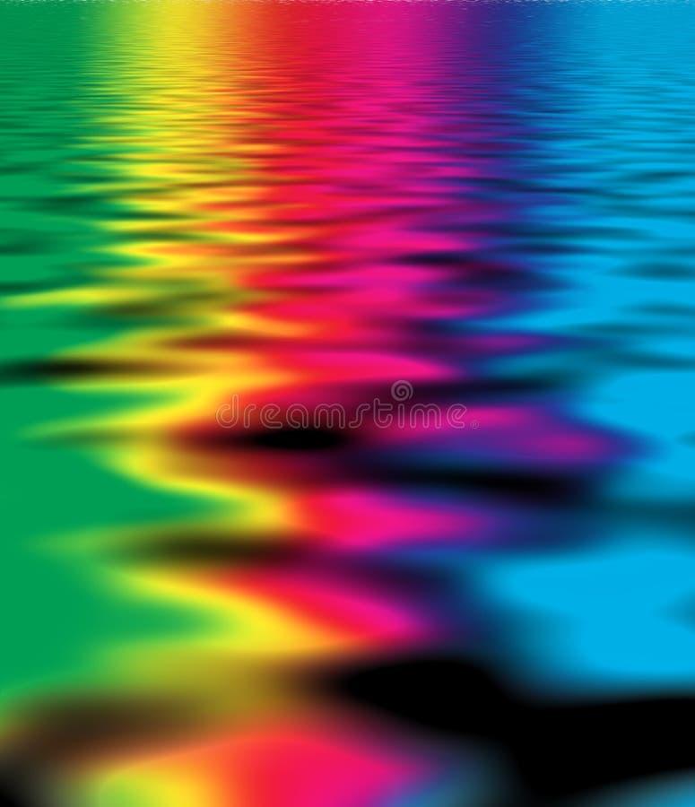 颜色反映水 库存例证