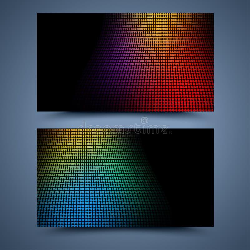 颜色名片模板 向量例证