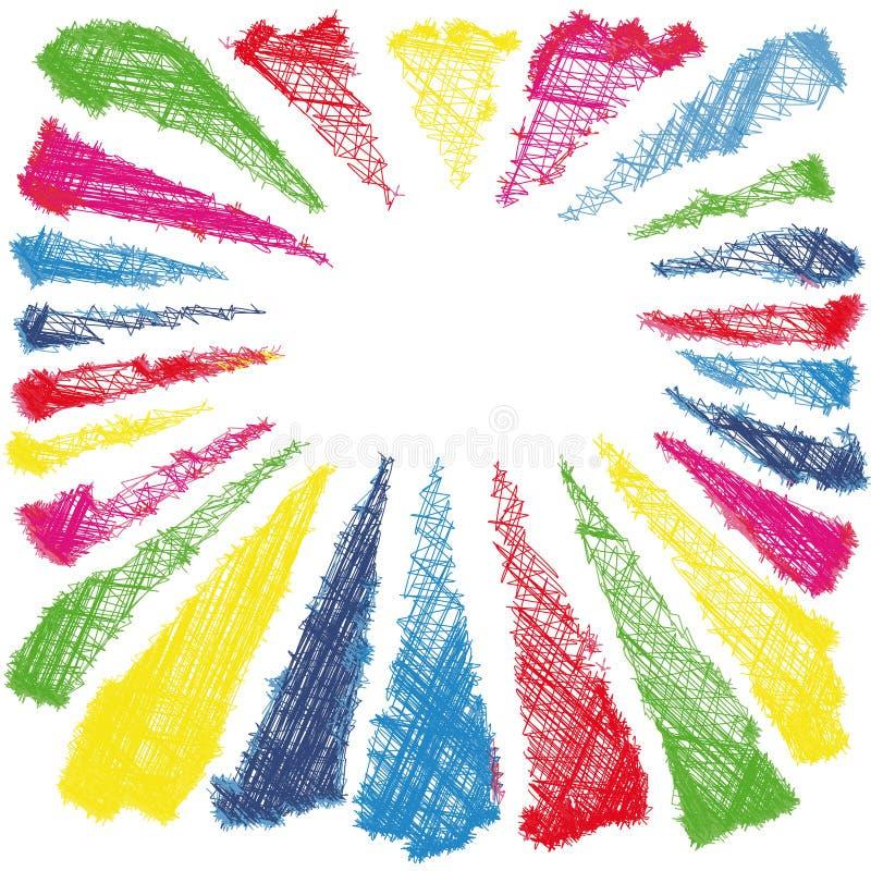 颜色向量 向量例证
