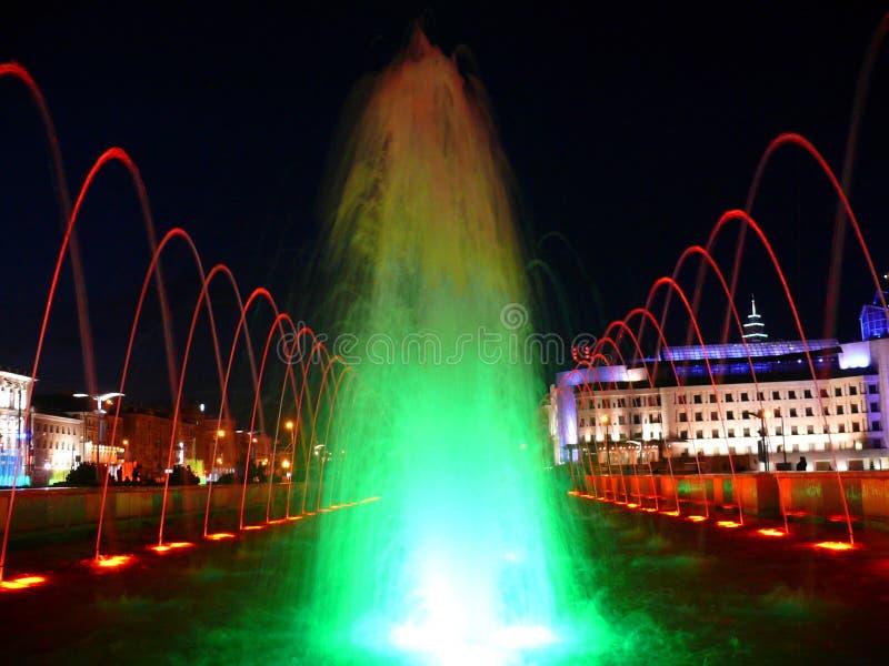 颜色喷泉喀山 免版税库存照片