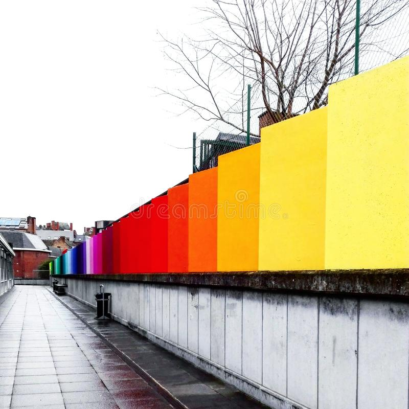 颜色在城市 库存图片