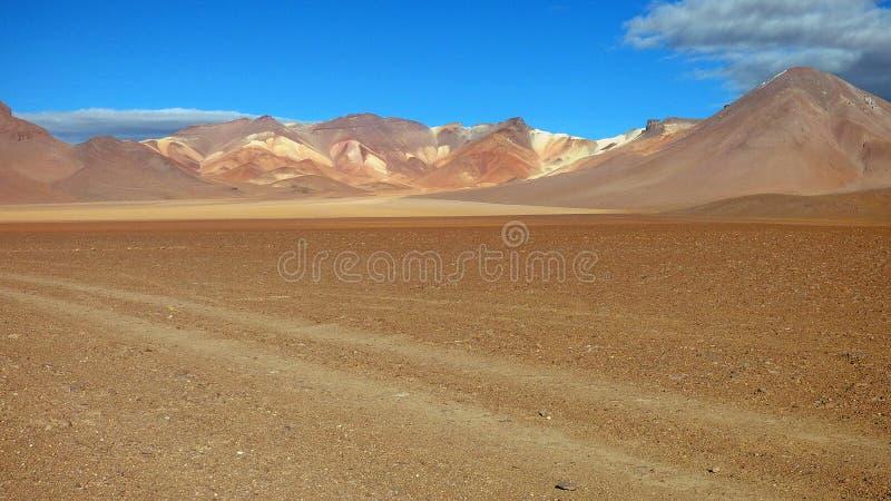 颜色在Altiplano 玻利维亚,南美 免版税库存照片