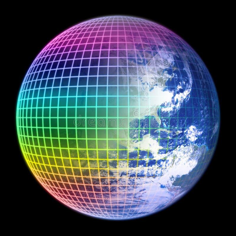 颜色地球框架地球 库存例证