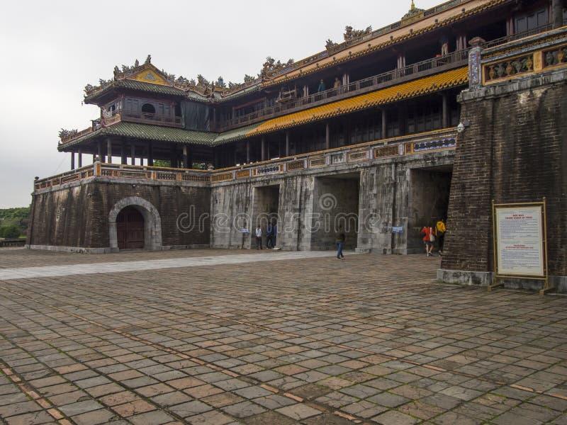 颜色城堡在越南 库存图片