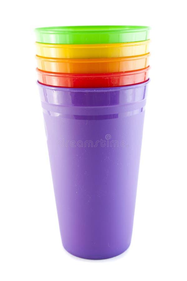 颜色塑料玻璃 免版税图库摄影