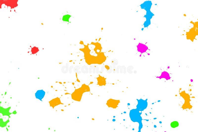 颜色墨水泼溅物 图库摄影