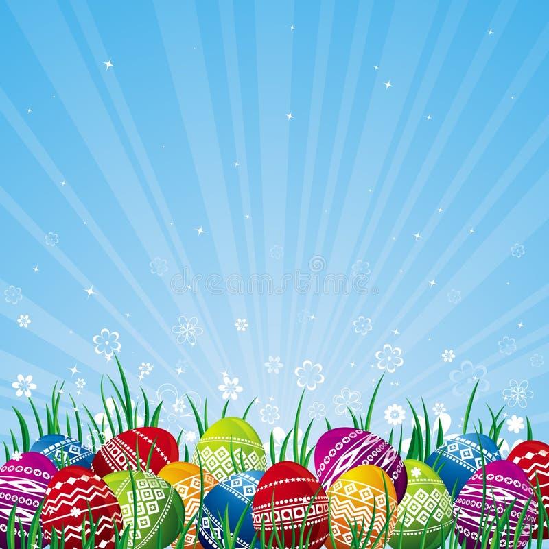 颜色复活节彩蛋向量 向量例证