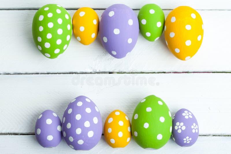 颜色复活节彩蛋节假日 库存图片