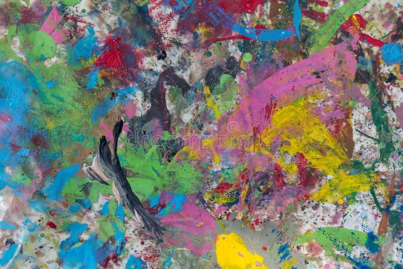 颜色多彩多姿的被弄脏的路面 背景 图库摄影