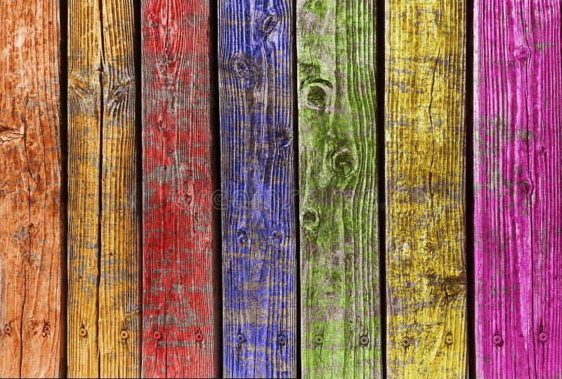 颜色多木头 库存照片