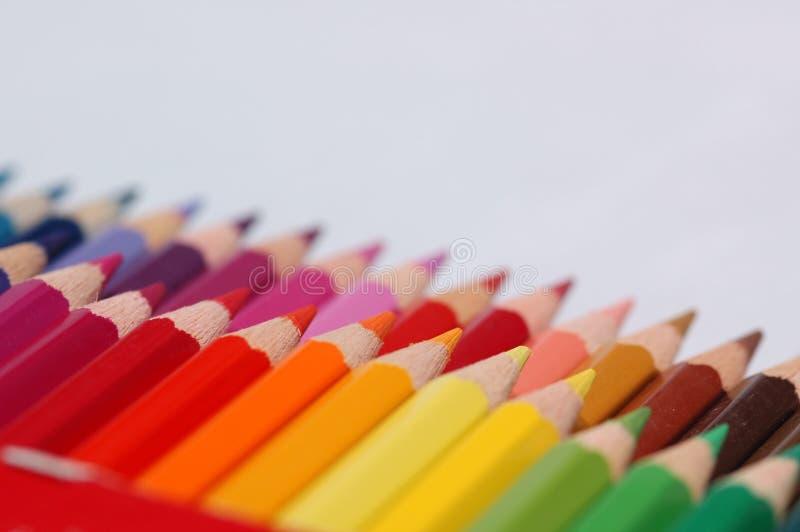 颜色多铅笔 免版税库存照片