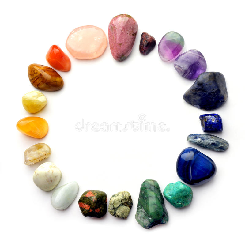 颜色宝石光谱 免版税库存图片