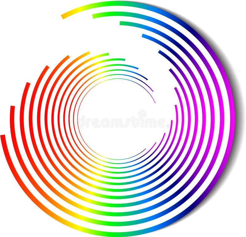 颜色彩虹螺旋向量 皇族释放例证