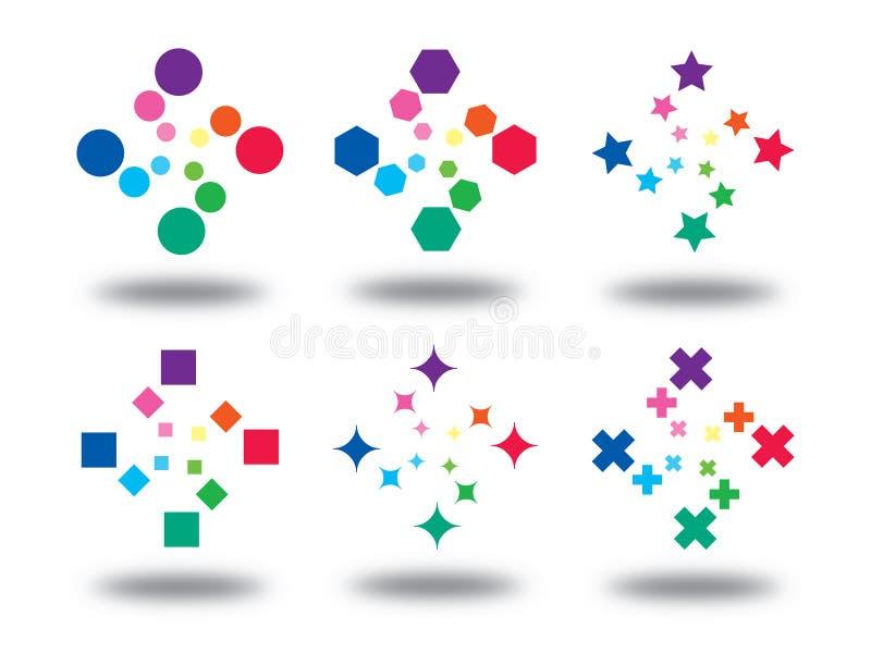 颜色徽标符号 向量例证
