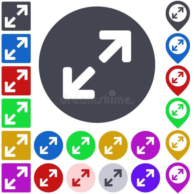 颜色扩展象集合 向量例证