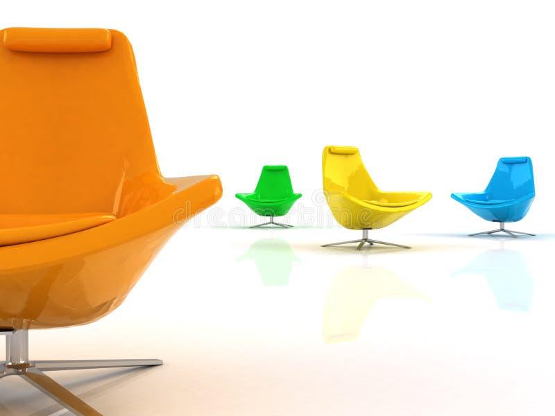 颜色扶手椅子 免版税库存图片