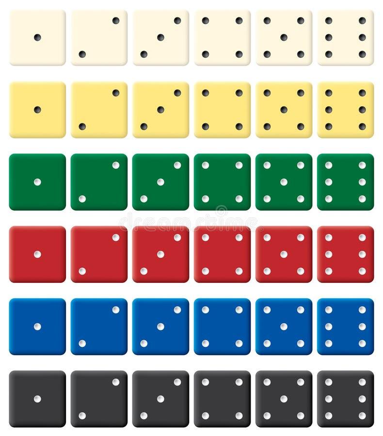 颜色把集切成小方块 库存例证