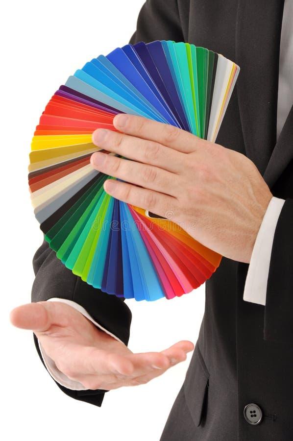 颜色抽样人员 库存图片
