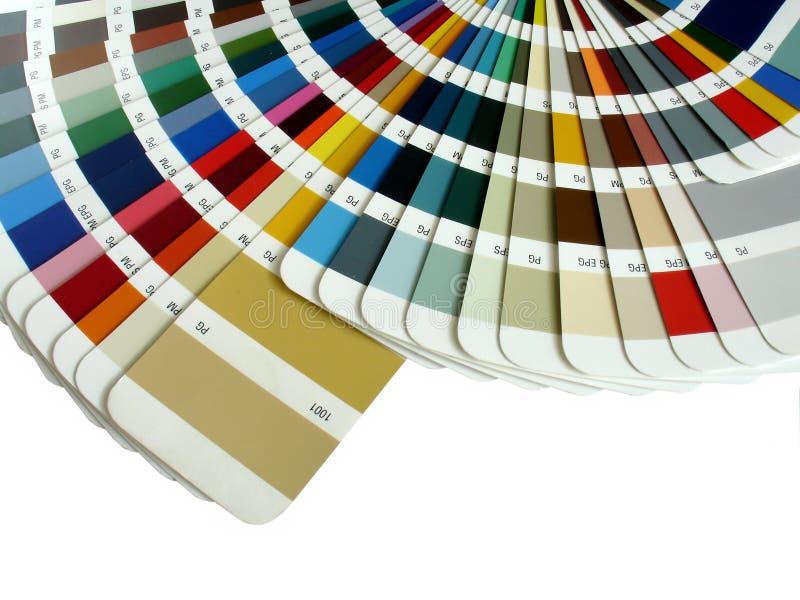 颜色抽样人员 图库摄影