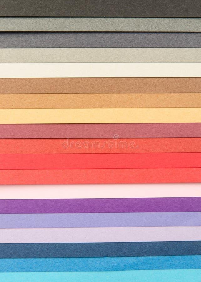 颜色抽样纸背景 库存图片