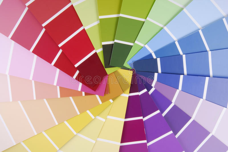 颜色指南取样器 免版税图库摄影