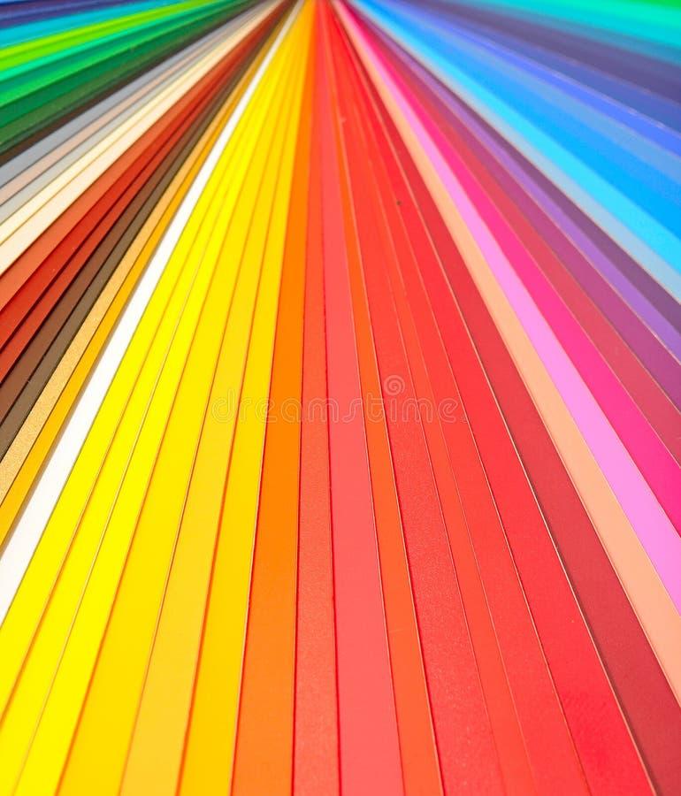 颜色指南特写镜头 库存图片