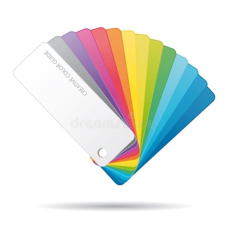 颜色指南象。 向量例证