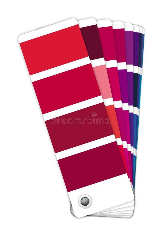 颜色指南-红色对蓝色 免版税图库摄影