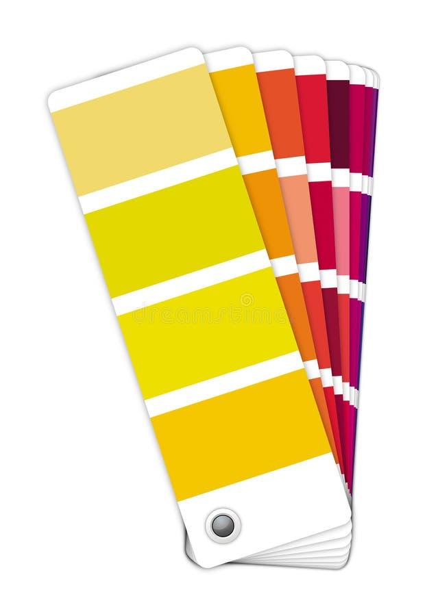 颜色指南-黄色对紫罗兰 库存图片