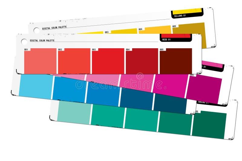 颜色指南 向量例证