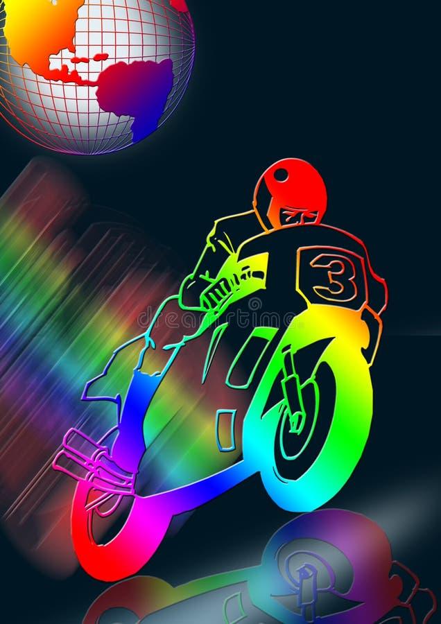颜色摩托车 向量例证