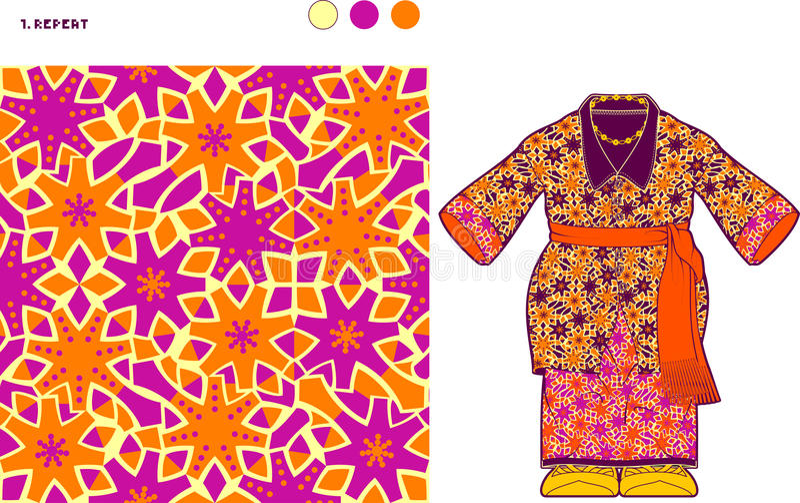 颜色改变的细胞样式 库存例证
