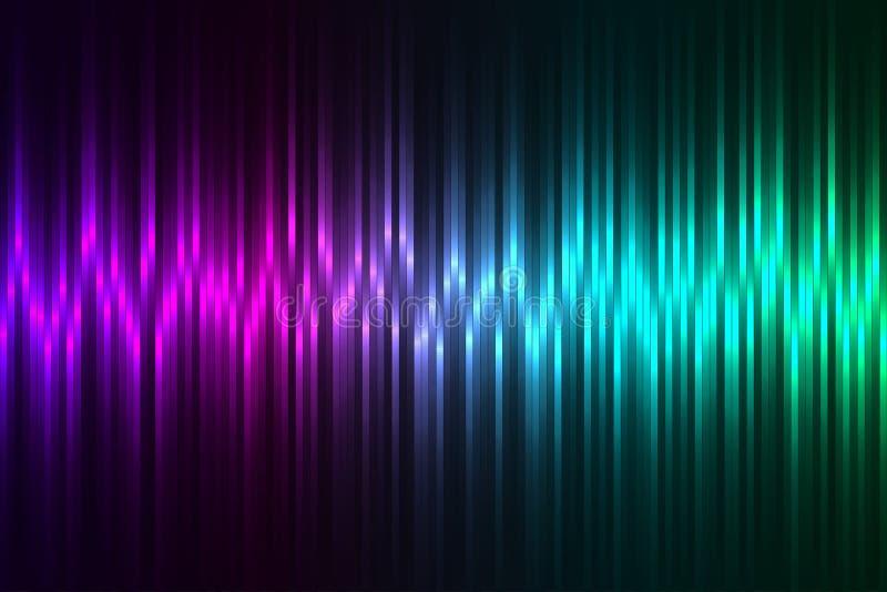 颜色数据条 向量例证