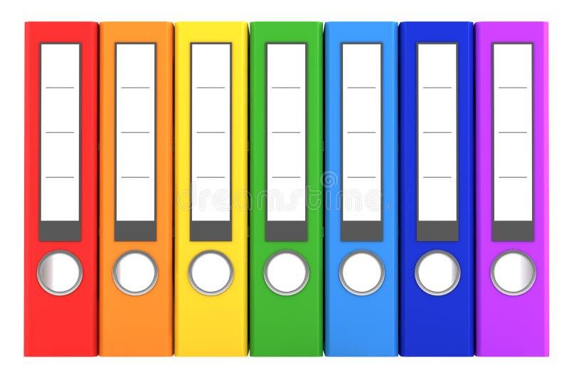 颜色文件夹查出彩虹七白色 皇族释放例证