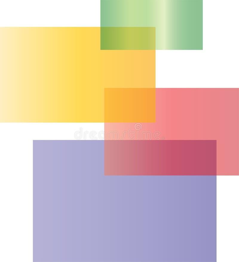 颜色方形的商标 免版税库存图片