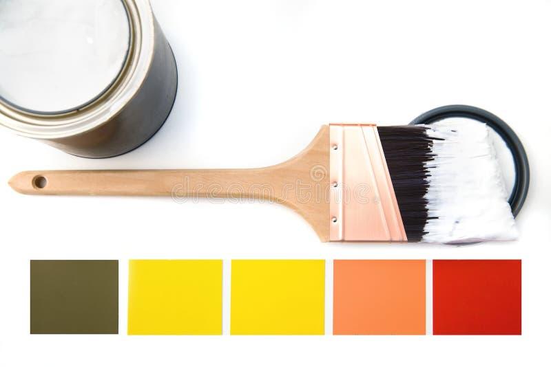 颜色方案 免版税库存照片