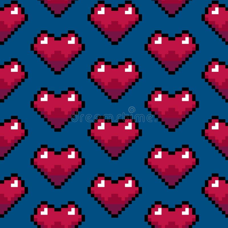 颜色映象点心脏比赛无缝的样式背景 向量 皇族释放例证