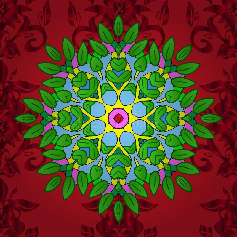 颜色春天题材无缝的样式背景 向量例证