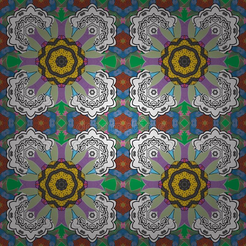 颜色春天题材无缝的样式背景 库存例证