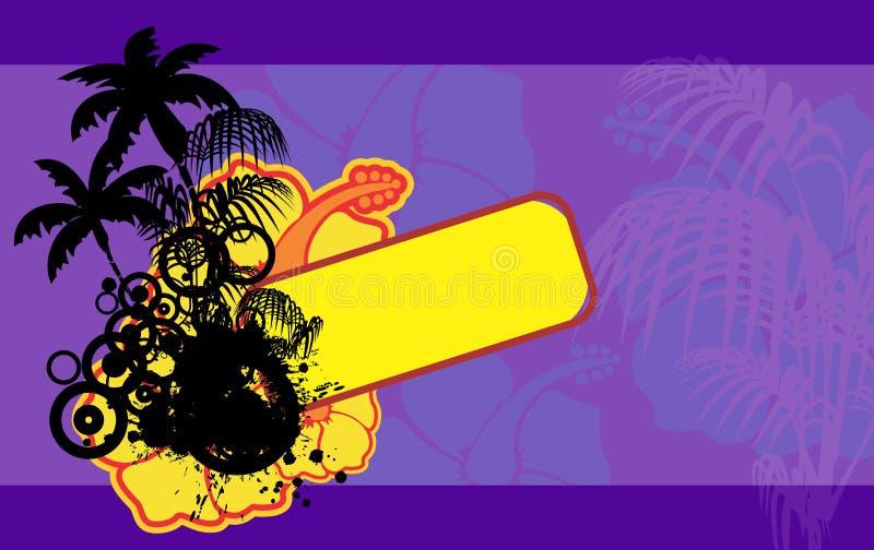 颜色木槿花热带夏威夷copyspace背景 向量例证