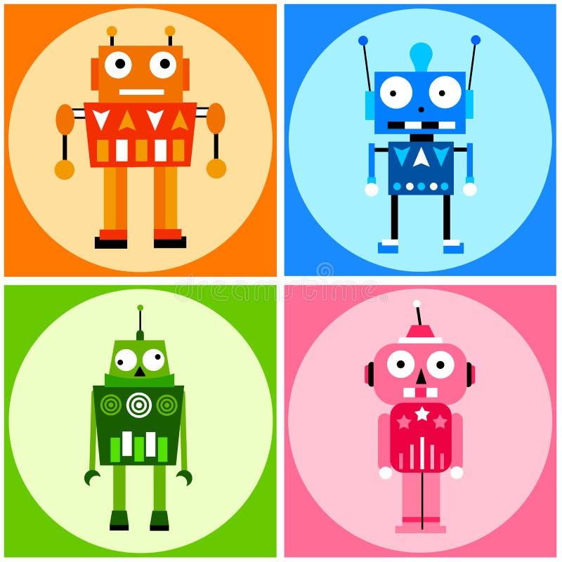 颜色机器人 向量例证