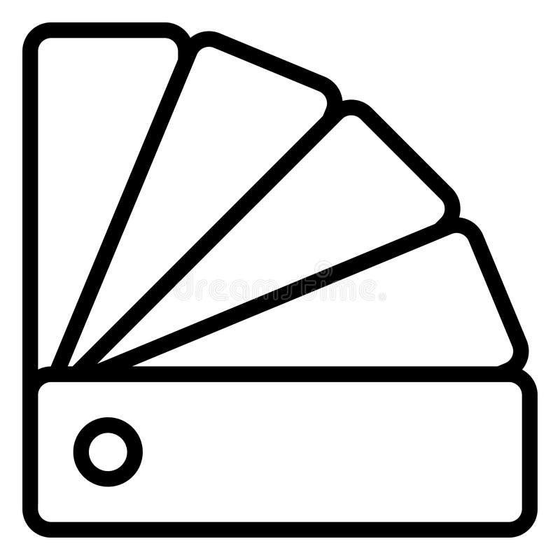 颜色样本、颜色样本矢量图标,可轻松修改 免版税库存图片