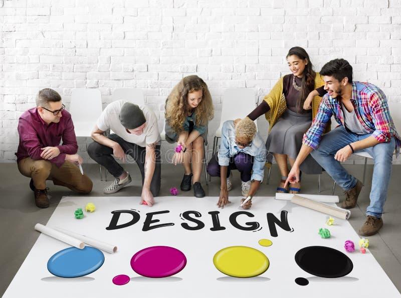 颜色样片设计样式概念 库存照片