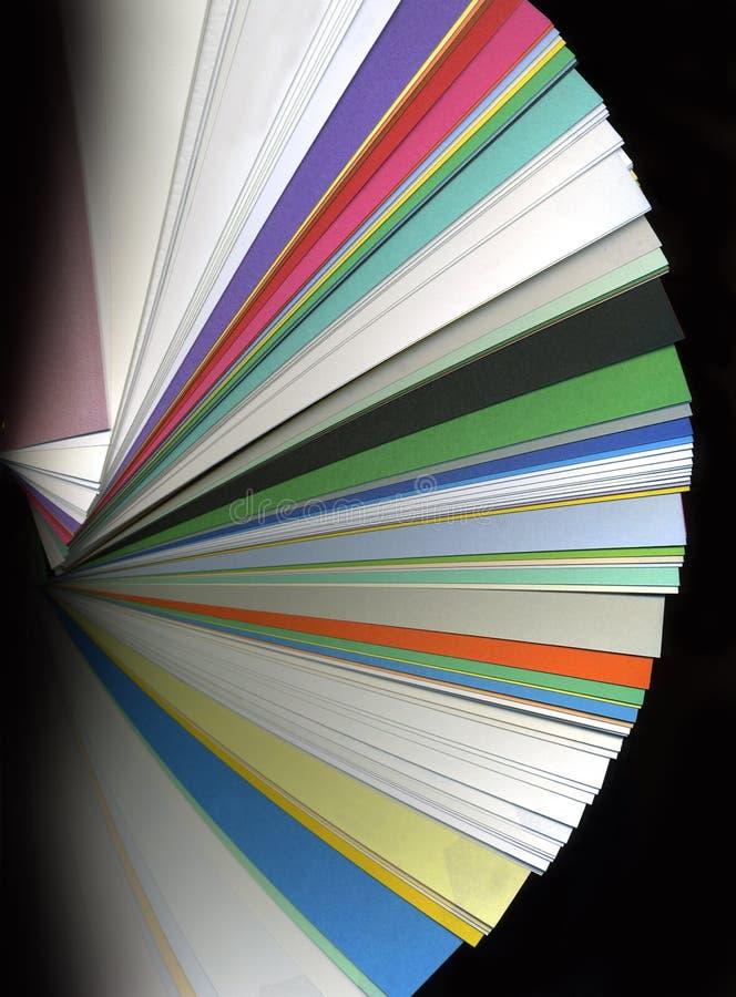 颜色样片选项 库存图片