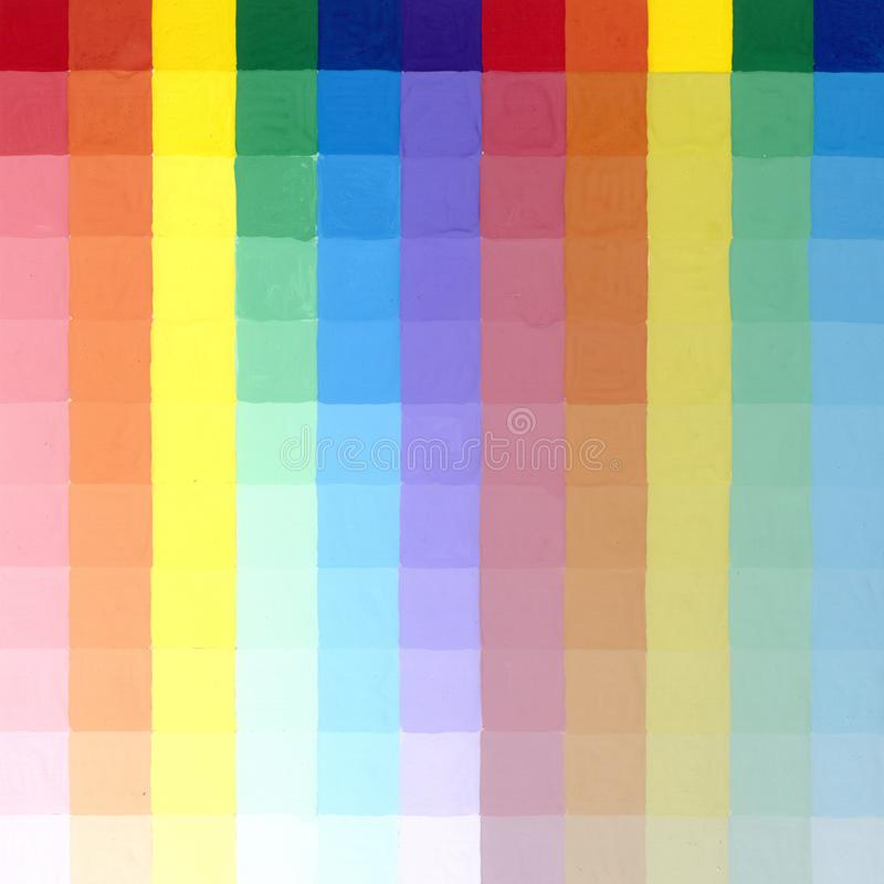 颜色梯度正方形  皇族释放例证